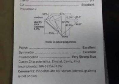 5.03 carat / EX EX EX D SI1